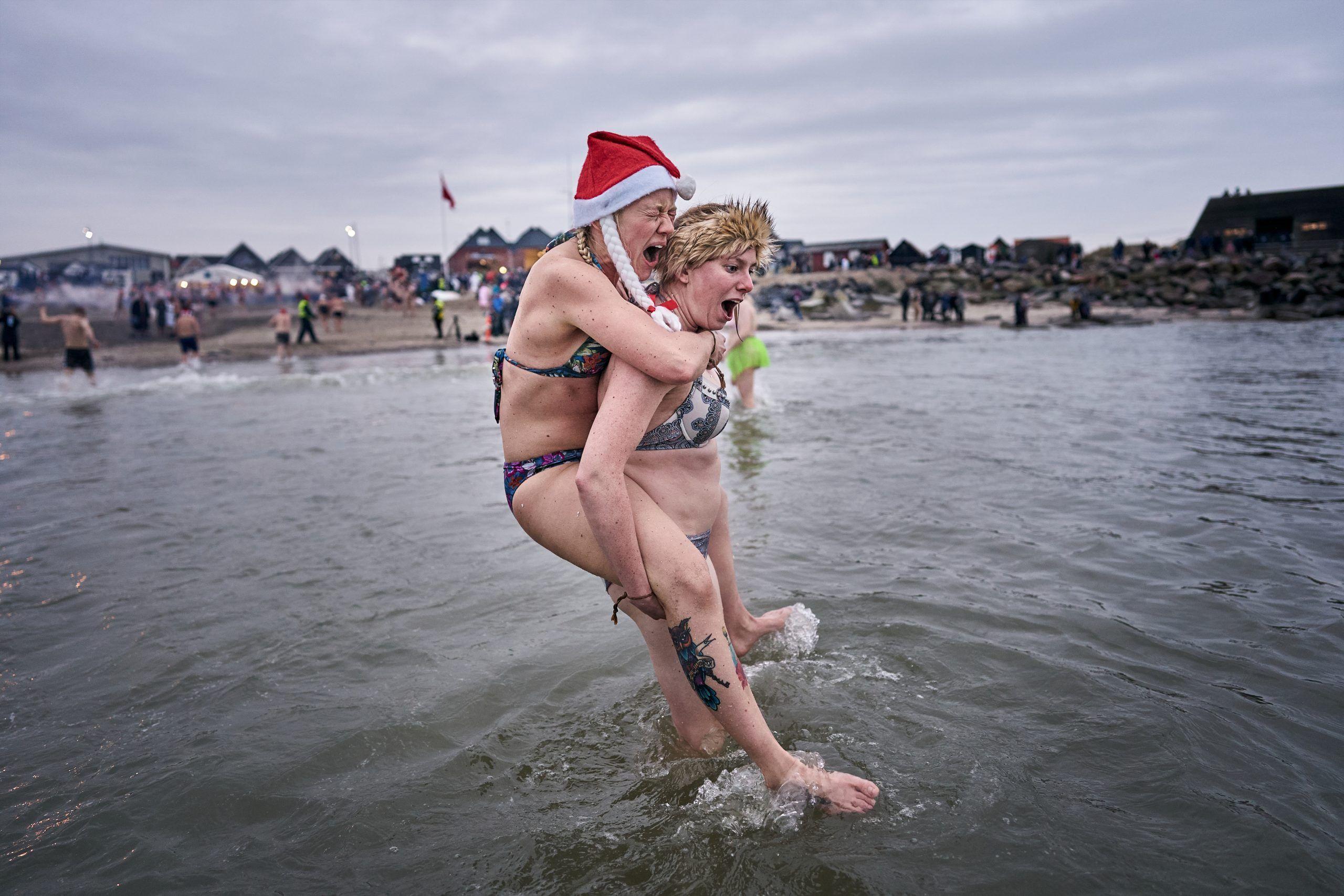 Vinterbadefest 4. juledag i Nr. Vorupør. '4. juledag danner Nr. Vorupør endnu en gang rammen om julens store badeoplevelse i Thy med en kold dukkert i Vesterhavet