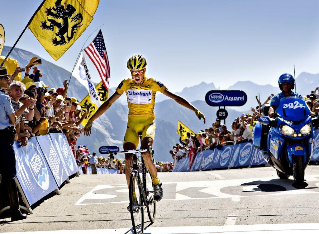Tour de France 16 etape fra Orthez til Col Dáubisque. Etapevindeer  Michael Rasmussen Rabobank